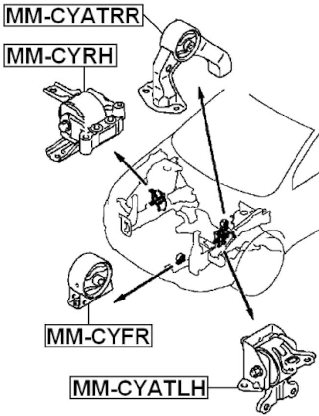 Engine Torque Damper ( CW5W Automatic CVT ) For 2008