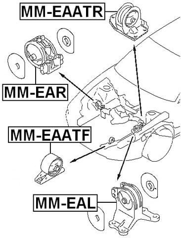 Left Engine Mount (Hydro) At Febest MM-EAL Oem MR272744