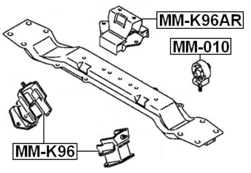 FRONT ENGINE MOUNT 6G72 AT For Mitsubishi MONTERO SPORT