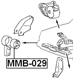 Arm Bushing Front Engine Motor Mount At FEBEST MMB-029 OEM