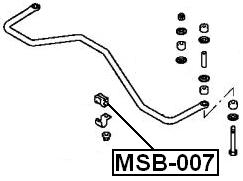 Suspension Stabilizer Bar Bushing ( N44W ) For 1994