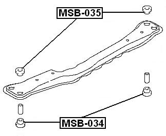 Transmission Crossmember Mount Bushing For 2001 Mitsubishi