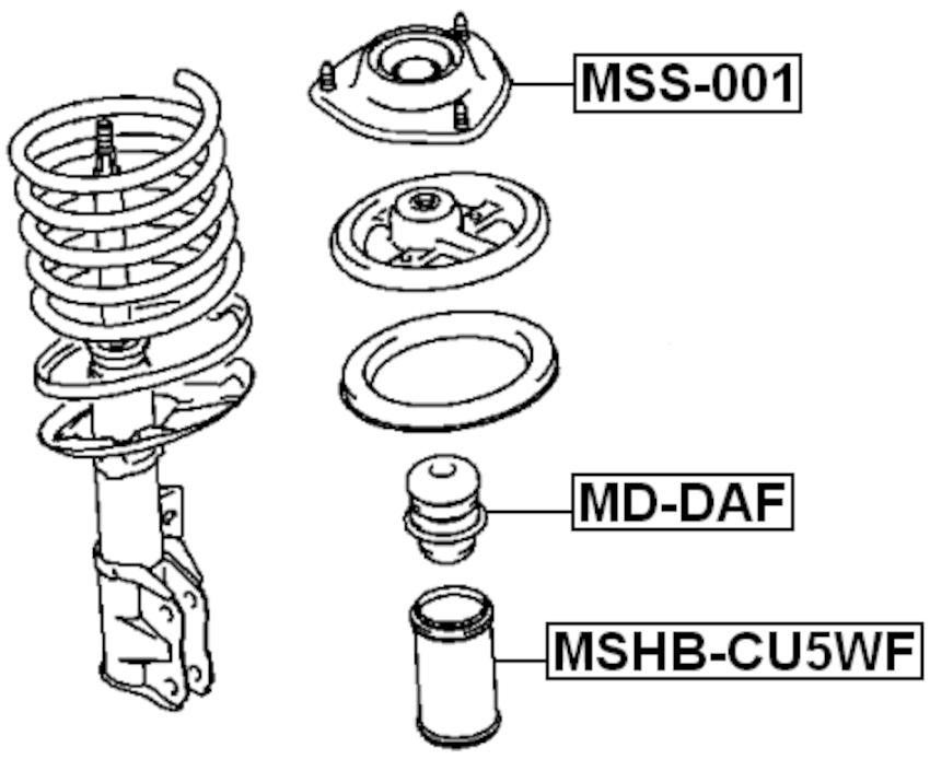 FRONT Strut Mount For Mitsubishi LANCER/MIRAGE CJ 1995