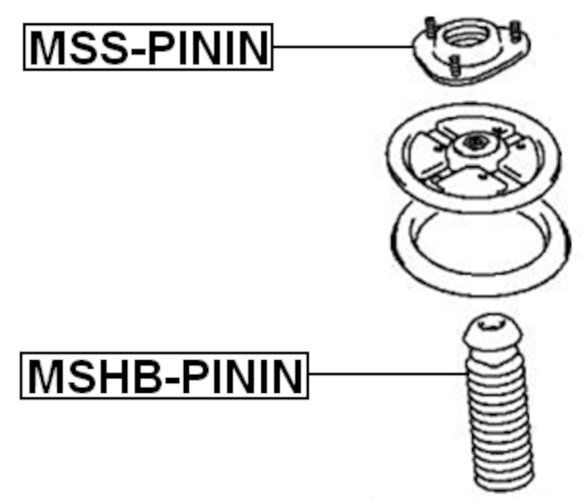 Front Shock Absorber Support Febest MSS-PININ Oem MB303452