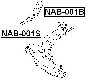 REAR ARM BUSHING FRONT ARM For Nissan MAXIMA A33 1998-2006