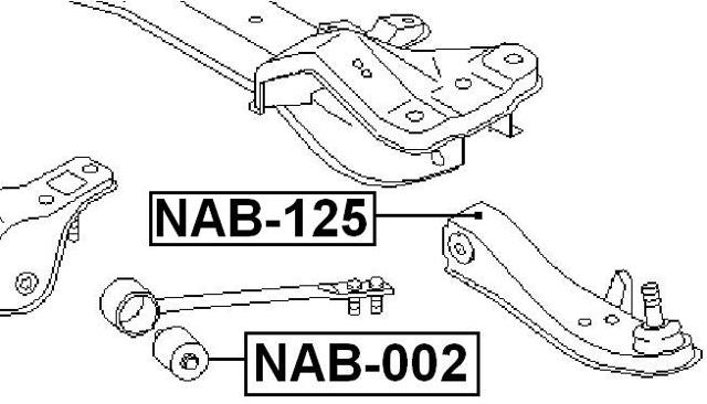 Arm Bushing Front Torsion (Hydro) FEBEST NAB-002 OEM 54476