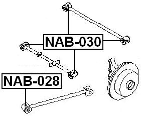 Arm Bushing For Rear Track Control Rod FEBEST NAB-030 OEM