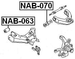 Arm Bushing Front Lower Arm FEBEST NAB-063 OEM 54560-01G00