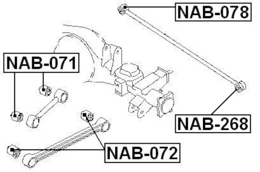 Arm Bushing For Lateral Control Rod FEBEST NAB-072 OEM