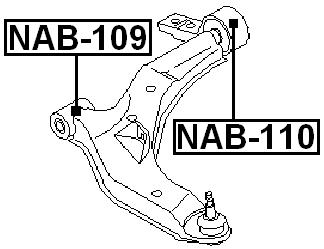Front Arm Bushing Front Arm For Nissan Primera P12 2001