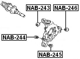 Arm Bushing Rear Assembly FEBEST NAB-243 OEM 56219-AL500
