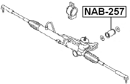 Arm Bushing For Steering Gear FEBEST NAB-257 OEM 54444