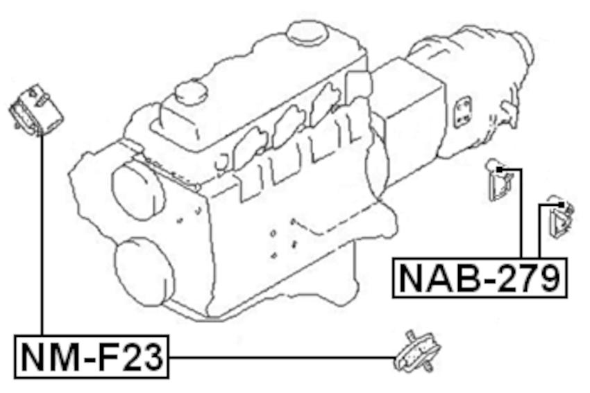 Arm Bushing Rear Engine Motor Mount For Nissan Civilian
