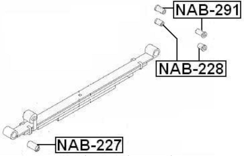 Arm Bushing Rear Spring For Nissan Urvan E25 2001-2012