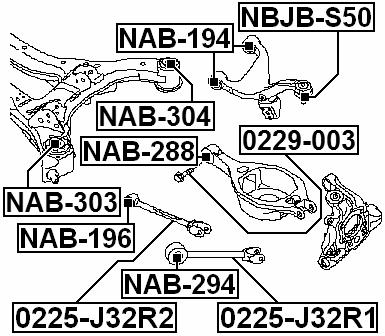 Suspension Subframe Bushing ( L32 Standard ) For 2007
