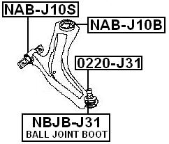 Rear Arm Bushing Front Arm For Nissan Tiida C11 2005-2012
