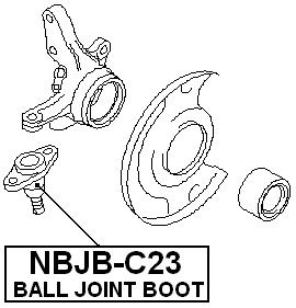 Front Arm Ball Joint Boot Febest NBJB-C23 Oem 40160-5C000