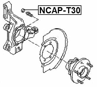 Cap-Bolt Steering Stopper Febest NCAP-T30 Oem 40039-D0100