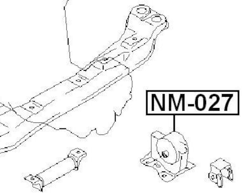 Left Engine Motor Mount Mt FEBEST NM-027 OEM 11220-5M505