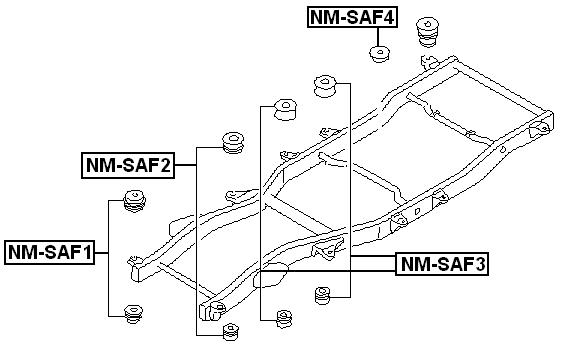 BODY-BUSHING-For-Nissan-PATROL-SAFARI-Y61-1997-2006-OEM