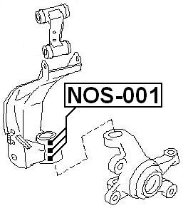 FRONT ARM BEARING SEAL KIT (3 SET) For Nissan PRIMERA P11