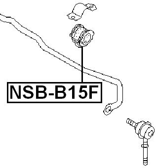 Front Stabilizer Sway Bar Bushing D20 FEBEST NSB-B15F OEM