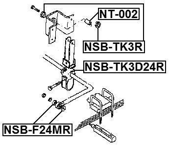 Rear Sway Bar Bushing Stabilizer D18.5 Febest NSB-F24MR