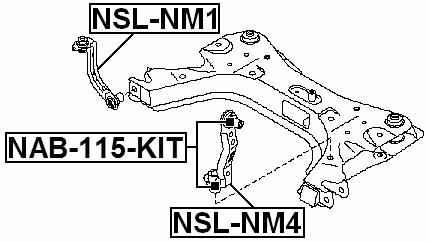 Suspension Stabilizer Bar Link ( C11X ) For 2012 Nissan