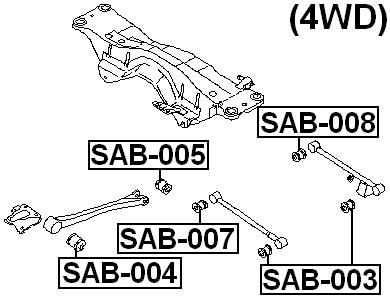 For Subaru IMPREZA G11 2000-2007 ARM BUSHING FOR TRACK