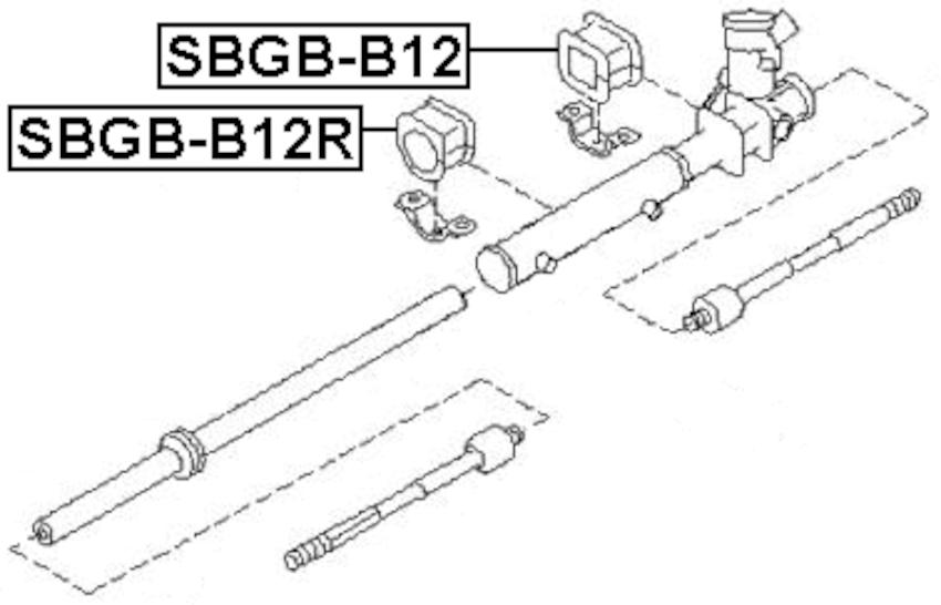 GROMMET STEERING RACK HOUSING For Subaru IMPREZA G11 2000