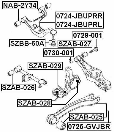 Arm Bushing For Track Control Arm FEBEST SZAB-026 OEM