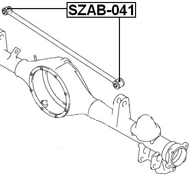 ARM BUSHING FOR REAR TRACK CONTROL ROD For Suzuki GRAND