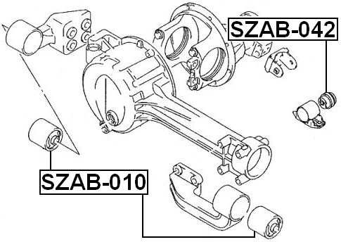 Front Differential Mount FEBEST SZAB-042 OEM 27550-52D00