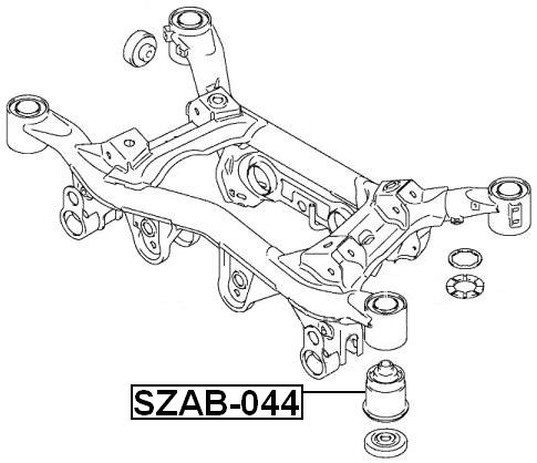 Suspension Subframe Bushing ( Automatic ) For 2007 Suzuki