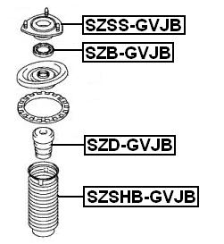 Suspension Strut Bearing ( Automatic ) For 2007 Suzuki