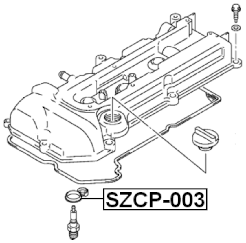 Spark Plug Guide Tube Hole Seal FEBEST SZCP-003 OEM 11179