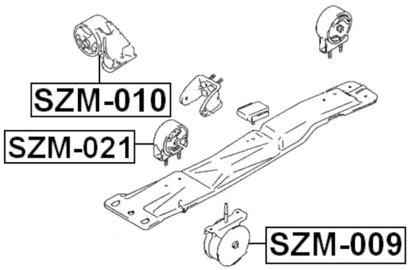 Engine Torque Damper For 2000 Suzuki Esteem GLX (USA