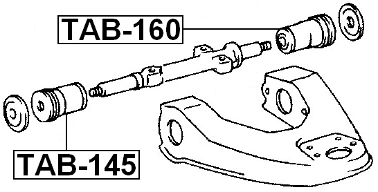 Bushing Front Upper Control Arm FEBEST TAB-145 48632-35050
