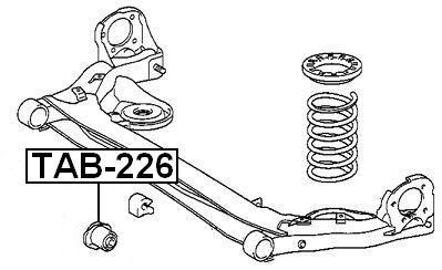 ARM-BUSHING-REAR-ARM-For-Toyota-AVENSIS-VERSO-ACM20-2001