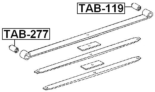 Febest Arm Bushing Rear Spring TAB-277 Oem 90389