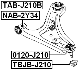 Lower Arm Ball Joint Boot FEBEST TBJB-J210 OEM 48068-B4010