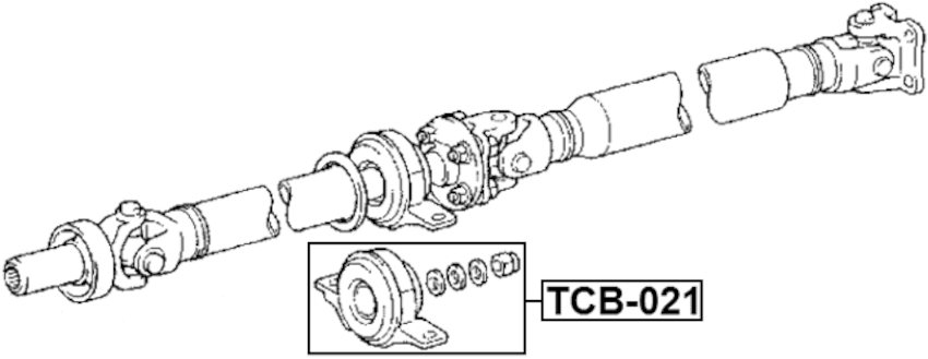 Drive Shaft Center Support Bearing ( Automatic ) For 2006