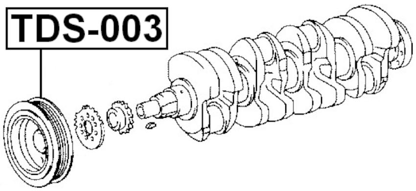 For TOYOTA COROLLA 1991-2002 CRANKSHAFT PULLEY ENGINE 2E