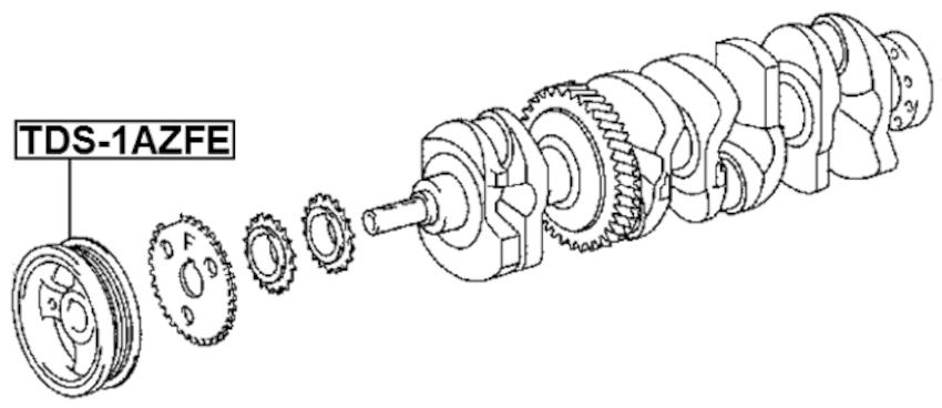 Engine Crankshaft Pulley ( ACV30 Standard 2AZFE ) For 2006