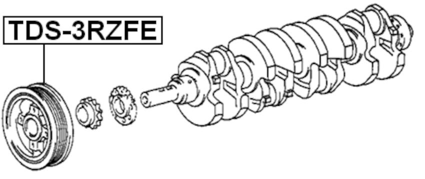 Engine Crankshaft Pulley ( RCK10 3RZFE ) For 1998 Toyota