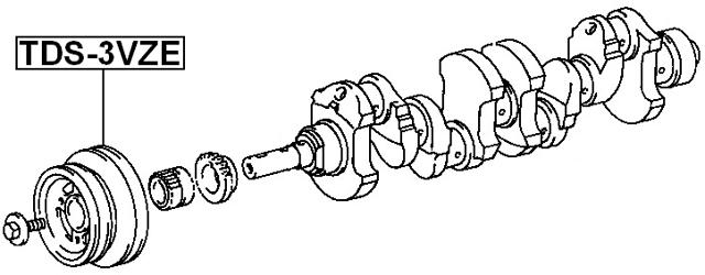 Engine Crankshaft Pulley ( VCK20 ) For 1993 Toyota T100