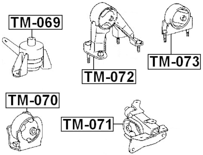 Front Engine Motor Mount For Toyota Noah 12361-28170