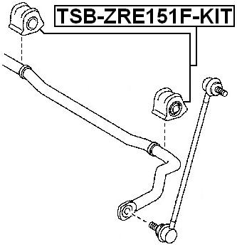 Front Stabilizer Bushing Kit D23.2 FEBEST TSB-ZRE151F-KIT