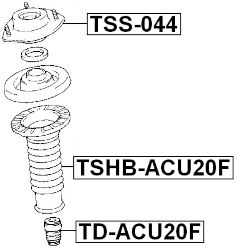 Front Shock Absorber Boot FEBEST TSHB-ACU20F OEM 48157-28020