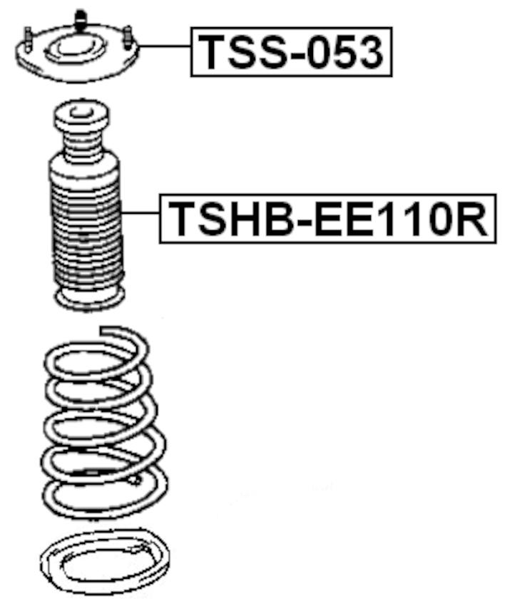 Rear Shock Absorber Strut Boot Bellow TSHB-EE110R 48341